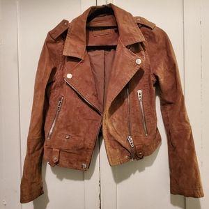 BLANK NYC Alder (Brown Suede Moto Jacket)